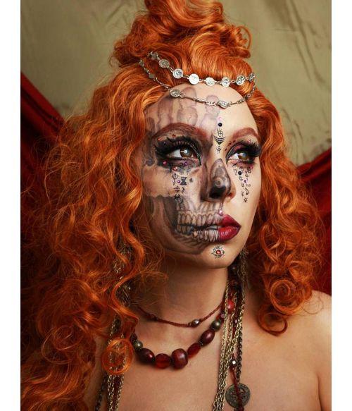 Curly Ginger Wig Fringeless