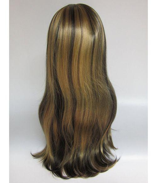 Dark Brown Wig With Blonde Highlights