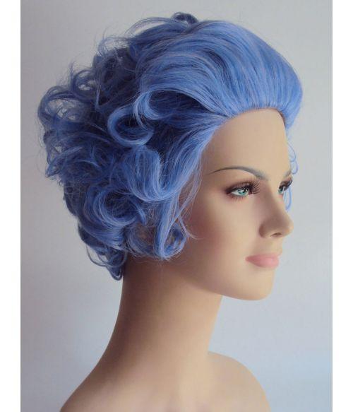Grandma Wig Curly Blue