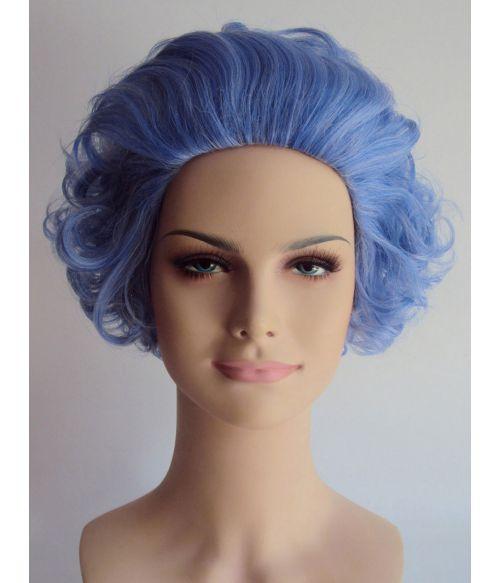 Granny Wig Short Blue