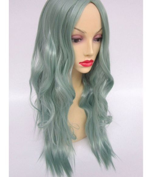 Green Wig Fringeless