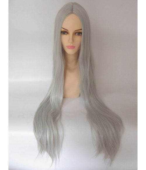Extra Long Grey Cosplay Wig