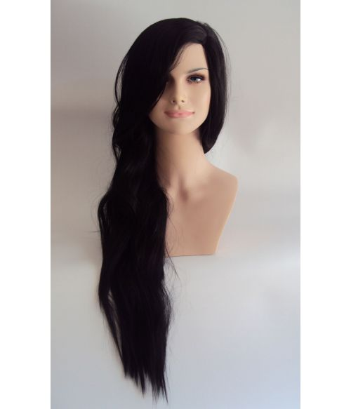 Extra Long Black Fashion Wig