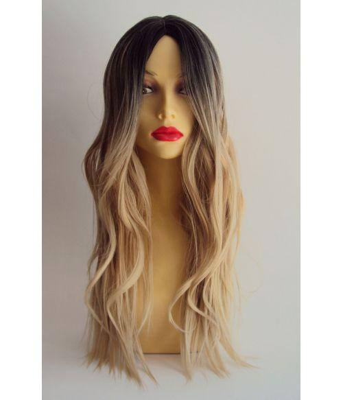 Long Blonde Wavy Fashion Wig