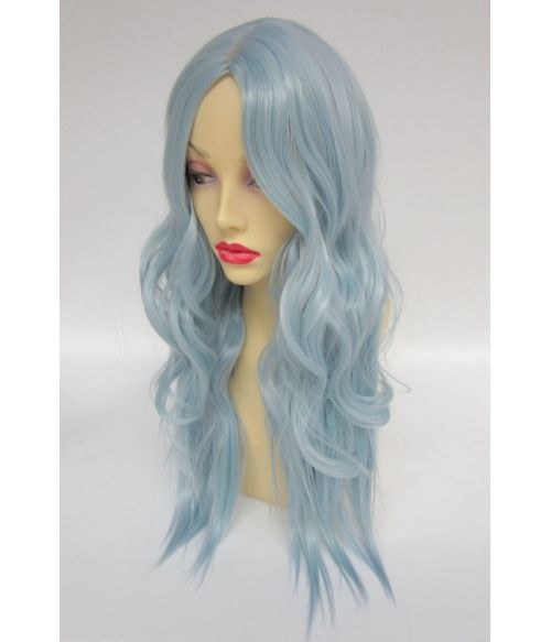 Wavy Pastel Blue Wig
