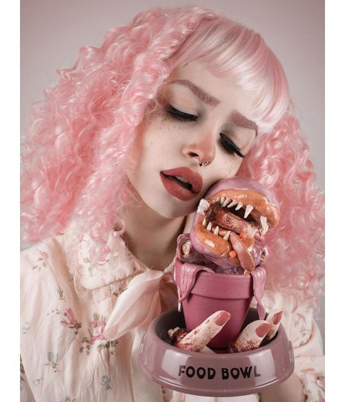 Light Pink Wig Curly