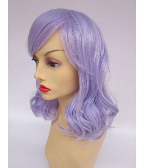 Lilac Mid Length Wig Wavy