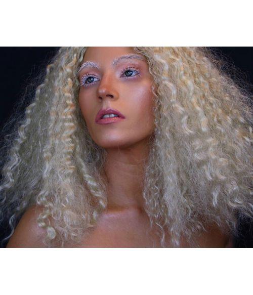 Long Blonde Afro Wig