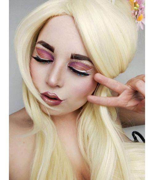 Long Blonde Beehive Drag Queen Wig