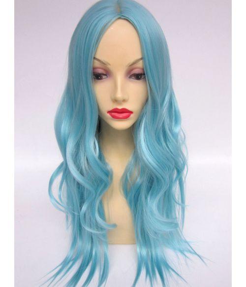 Blue Wig Wavy