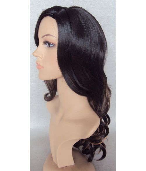 Long Curly Highlighted Wig
