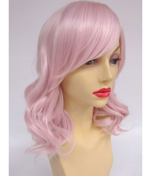 Mid Length Wig Pastel Pink