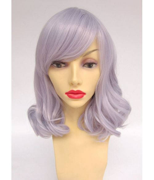 Mid Length Silver Wig UK
