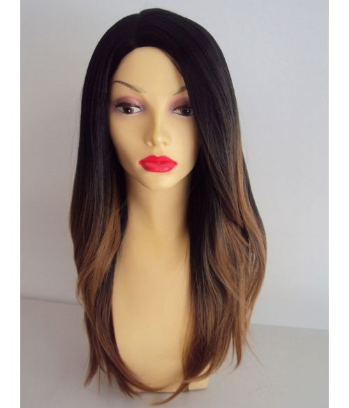 Ombre Black And Blonde Wig