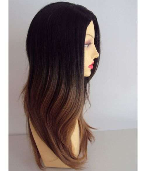 Ombre Wig Black Blonde Long