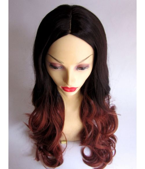 Ombre Wig Brown Red
