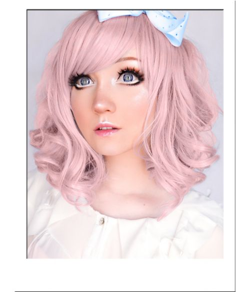 Pastel Pink Mid Length Wig UK