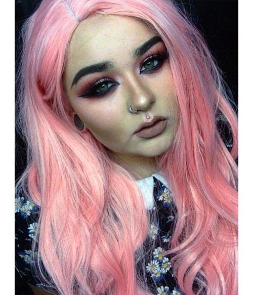 Pastel Pink Wig Makeup