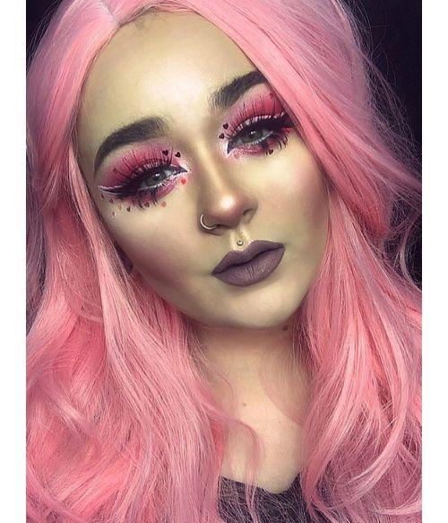 Pink Wig Pastel Long