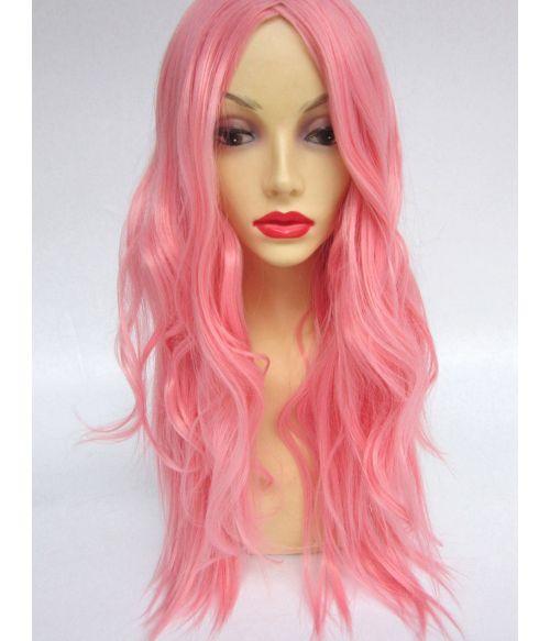 Rose Pink Wig Wavy
