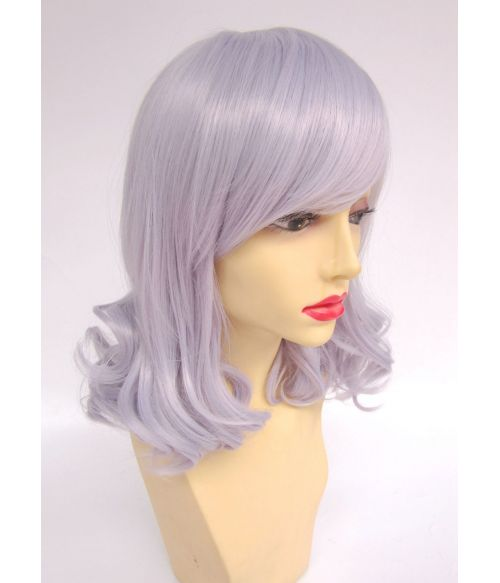 Silver Mid Length Wig