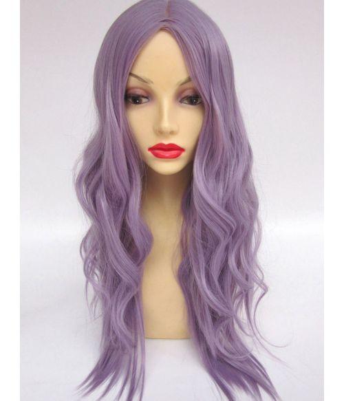 Purple Wig Wavy