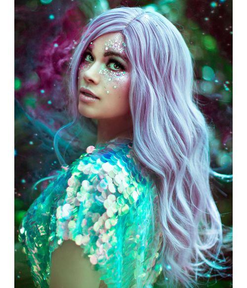 Silver Purple Wig Wavy