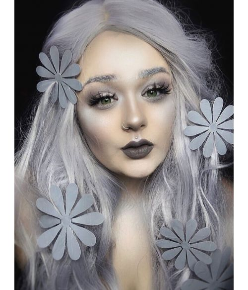Silver Wig Centre Part