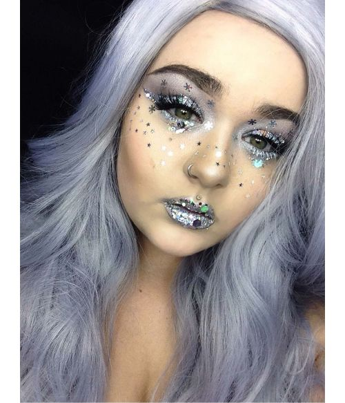 Silver Wig Fringeless