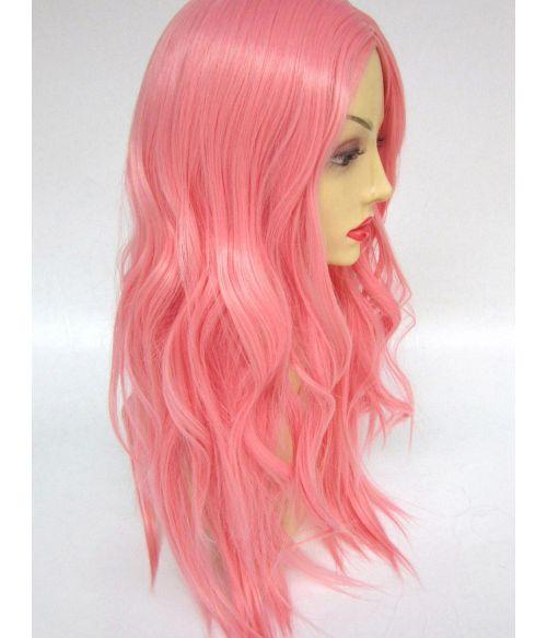 Soft Pink Wig Long Wavy