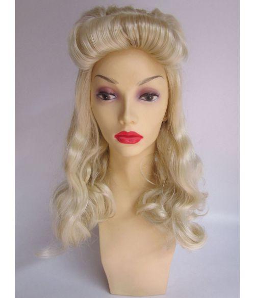 Victory Rolls Wig Blonde
