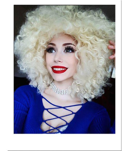 Extra Large Blonde Afro Wig
