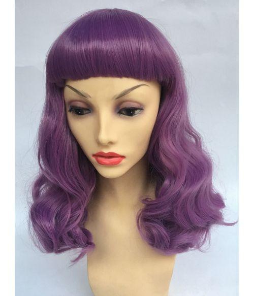 1950s Wig Purple
