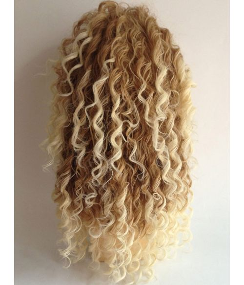 Afro Wig Blonde Kinky Curly Long
