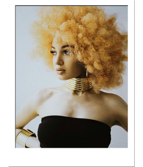 Afro Wig Curly Yellow