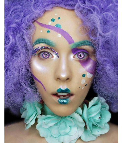 Afro Wig Large Purple
