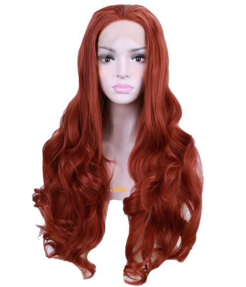 Auburn Wig Lace Front Curly