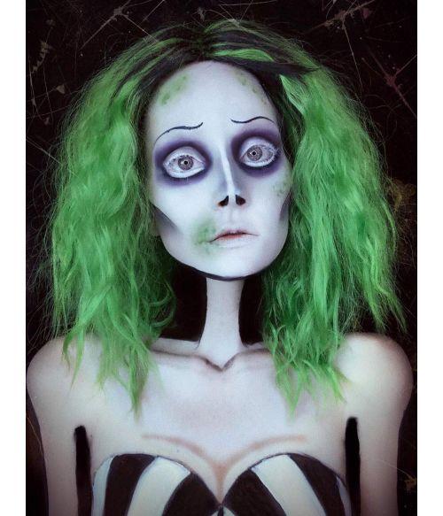 Beetlejuice Wig Green