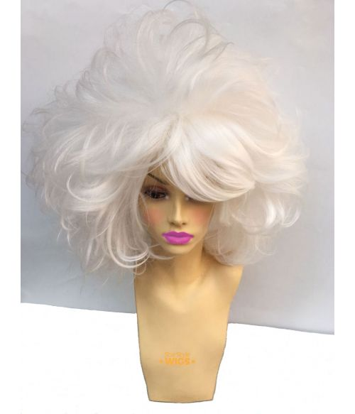 Big Hair Wig White