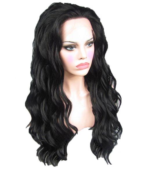 Black Lace Front Wig Long