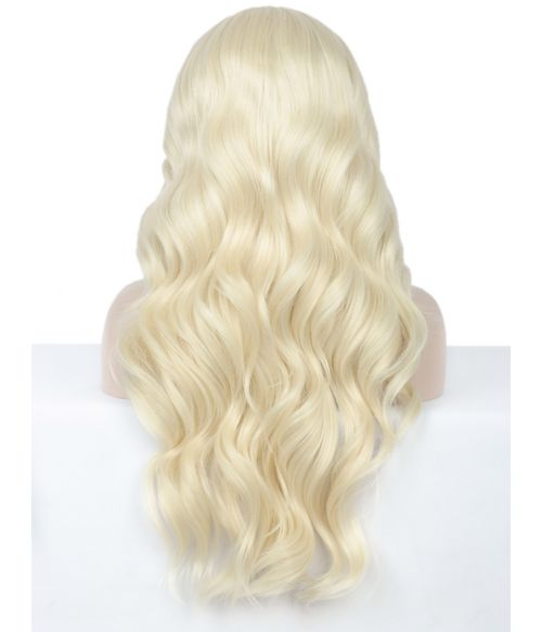 Bleach Blonde Wig Long