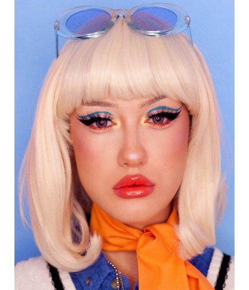 Blonde Bob Pageboy Wig With Bangs