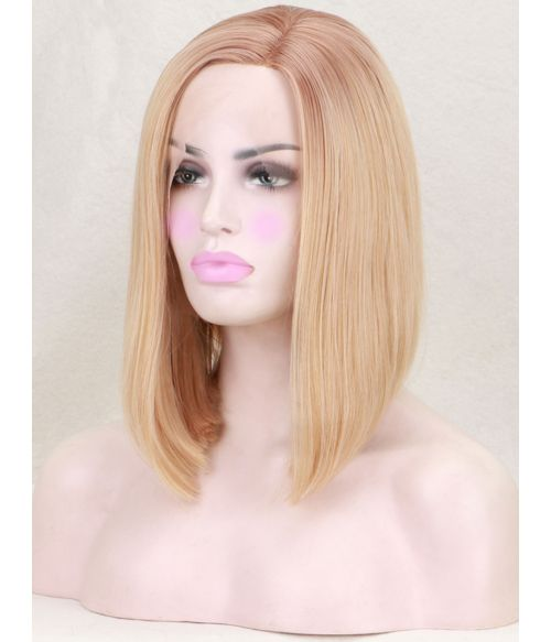 Graduated Bob Wig Lace Front Blonde
