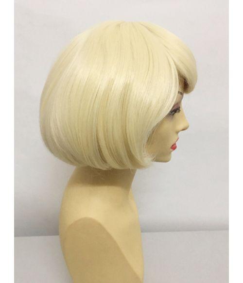 Blonde Wig Short Bob With Bangs