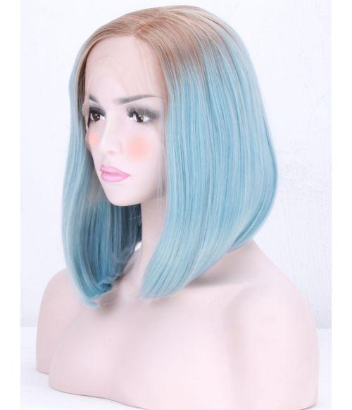 Blue Bob Wig Lace Front