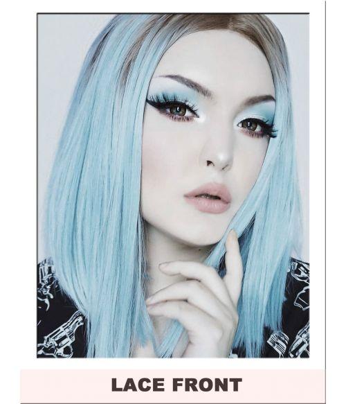 Blue Wig Lace Front Bob