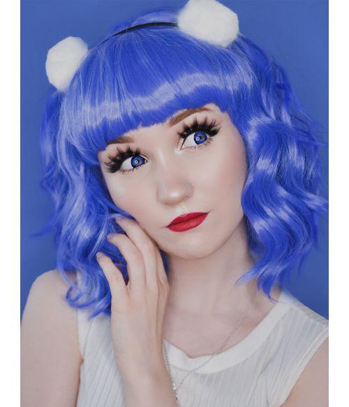Blue Wig Wavy Bob