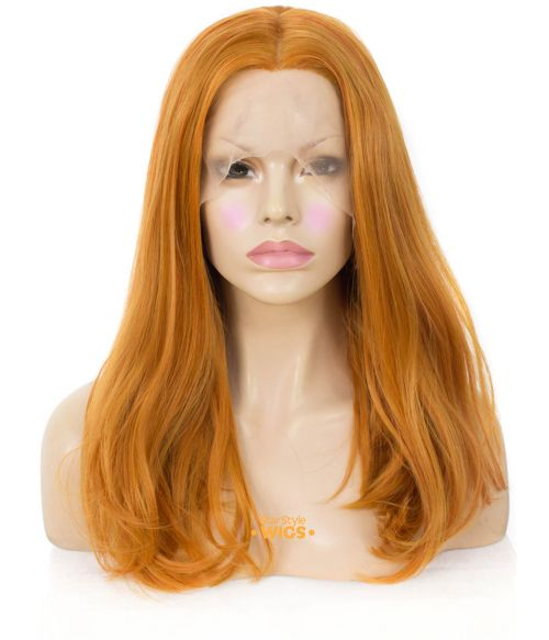 Caramel Orange Lace Frontal Wig