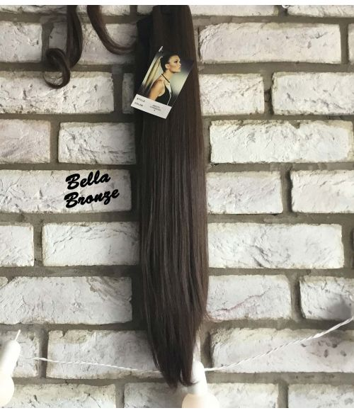 Clip In Ponytail Straight Brown