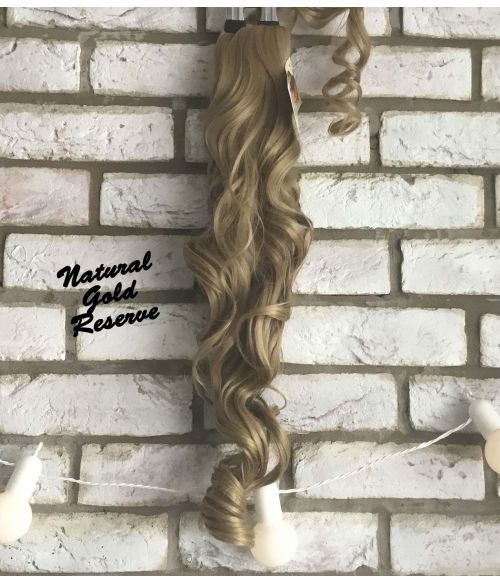 Clip In Ponytail Golden Blonde Curly